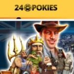 24 Pokies casino logo with games pictures